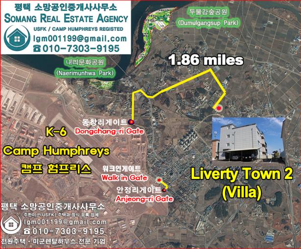 liverty town - villa location
